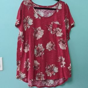 Maurices Floral Short Sleeve Top sz 2